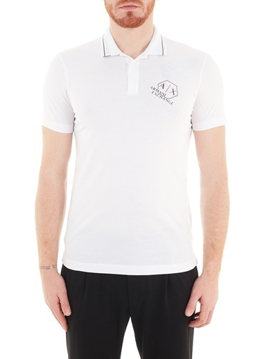 Armani Exchange  % 100 Pamuklu Polo T Shirt Erkek Polo S 6Hzffa Zj9Az 1100 Beyaz